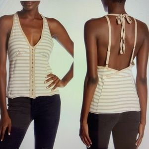 Free People Classic Halter Tank Top NWT